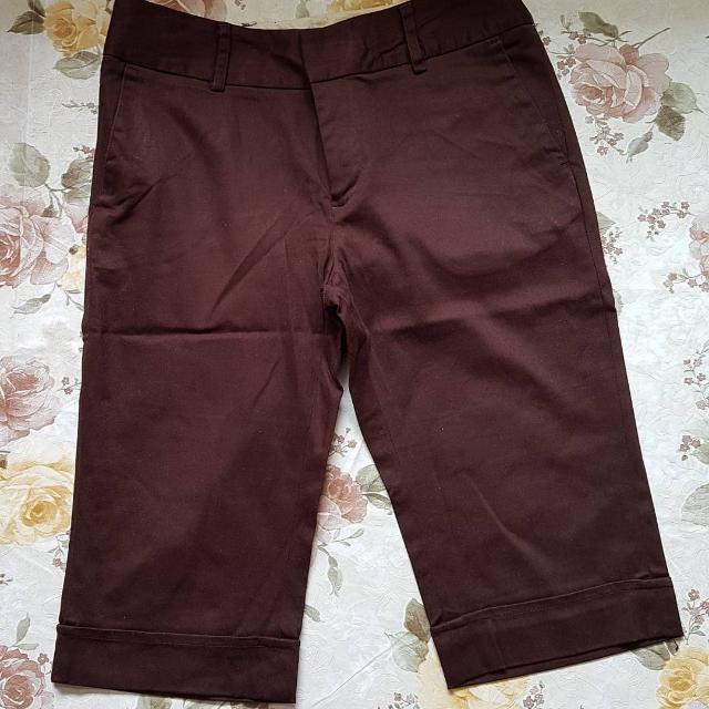Arnesso Basic Pants size S / 26 Color : Dark Brown