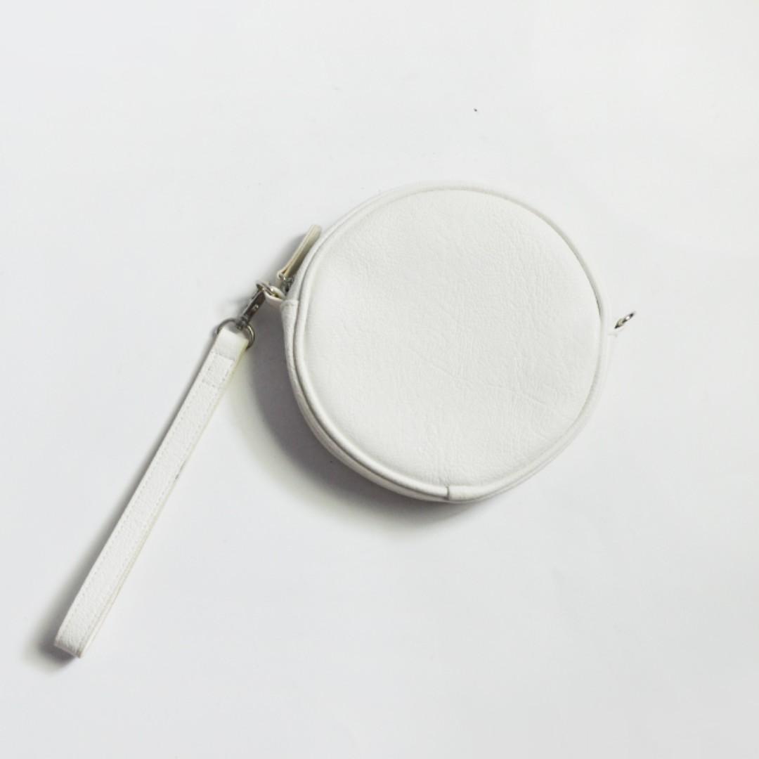 asos購入 英國品牌monki 質感皮革圓形手拿包
