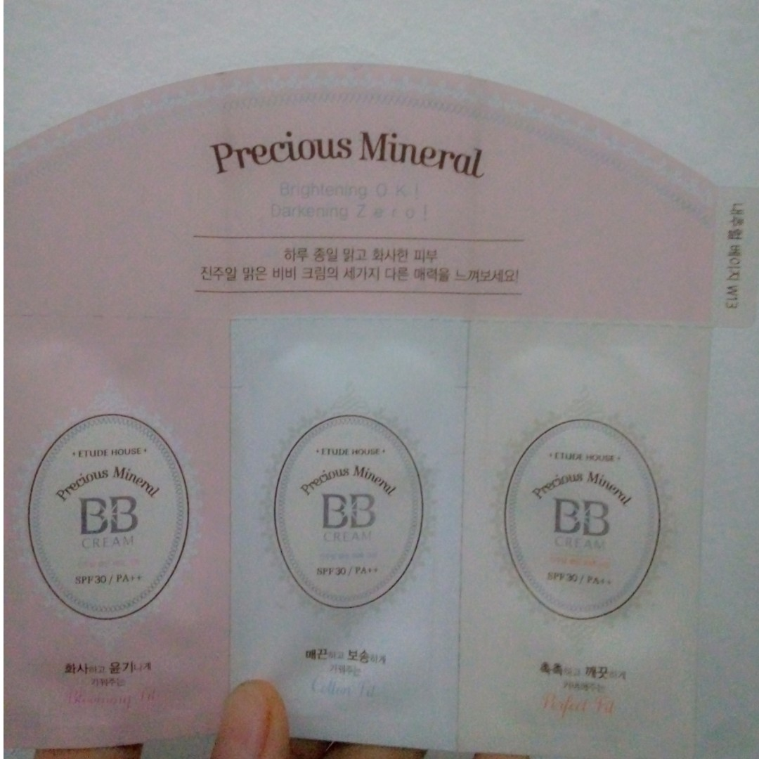 Bb cream etude house sample