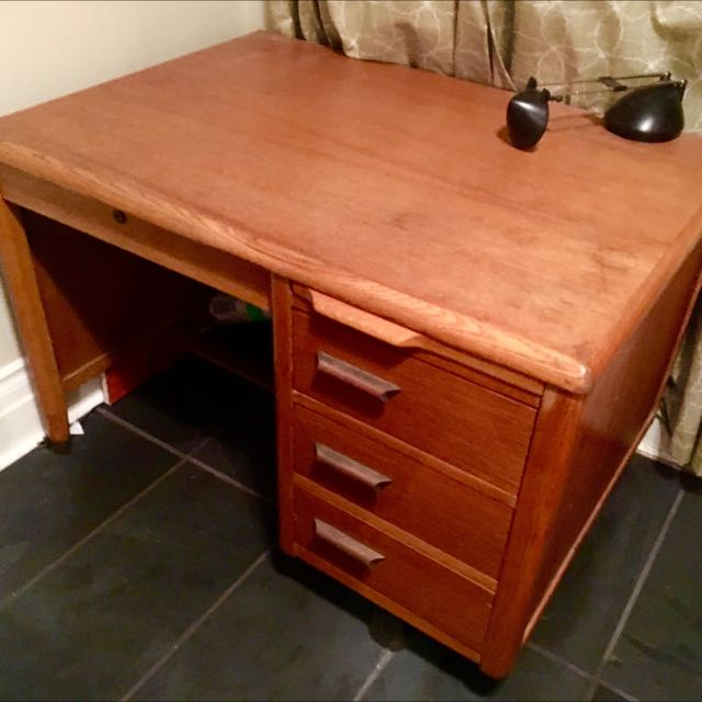 Beautiful Solid Wood Vintage Desk