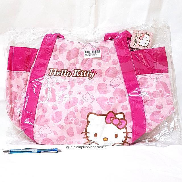 485fbf99f1 BIG Japan Sanrio Hello Kitty Limited Edition Pink Leopard Print Canvas  Balloon Shoulder Bag  Toreba