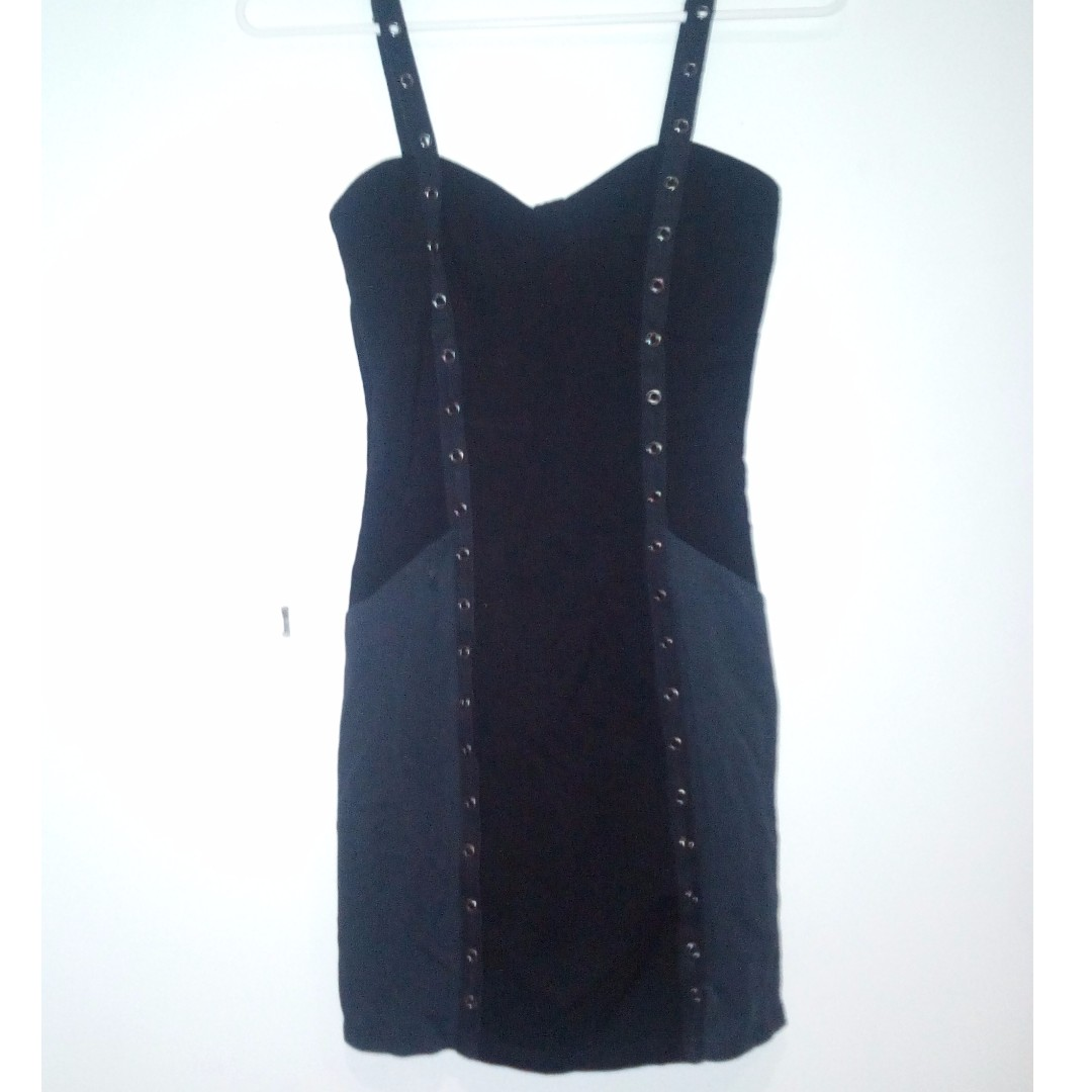 Black and Charcoal Dress Small