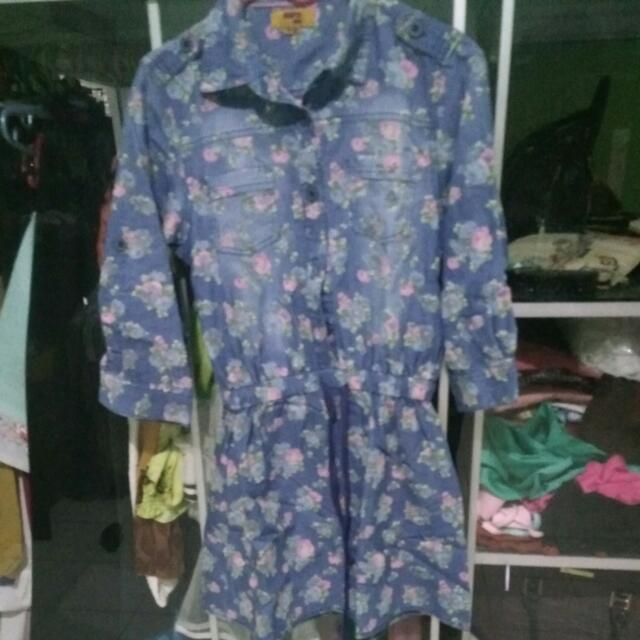 Blouse / Kemeja / Dress Flower Vintage