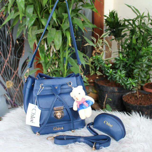 Blue bag CHLOE Promo