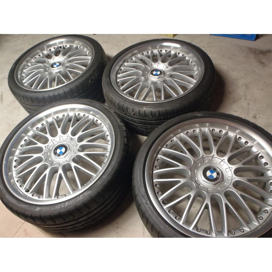 "BMW 20"" GENUINE 3 PIECE ALLOYS WHEELS RIMS TYRES BBS MS SPORT -AS NEW RRP $12K"