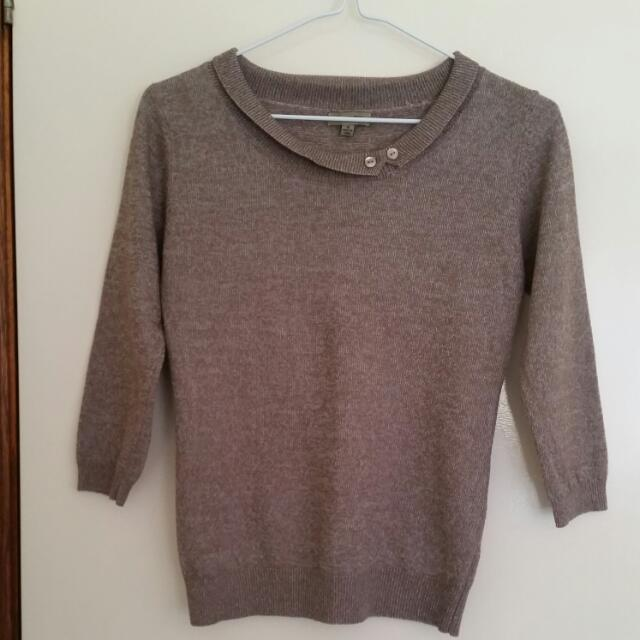 Brown Wool Knitted Top