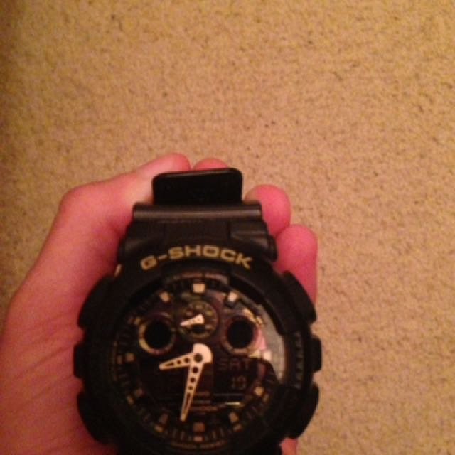 Camo plate G-Shock Analog Watch