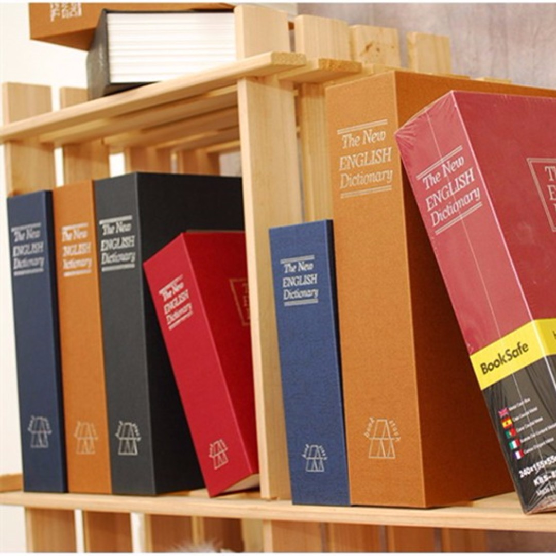 Dictionary Book Secret Hidden Security Safe Lock Cash Money Jewellery  Locker Storage Box – 4 Color choices