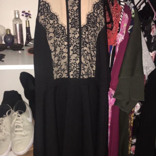 Dotti Sheer Black Dress