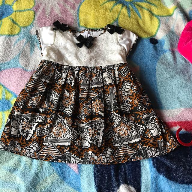 Dress Batik Anak  1-3 Thun