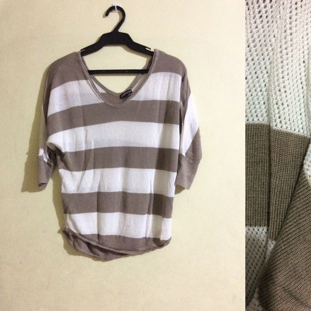 Express Striped Knit Pullie