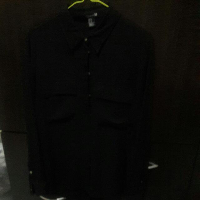 F21 Black Button UP