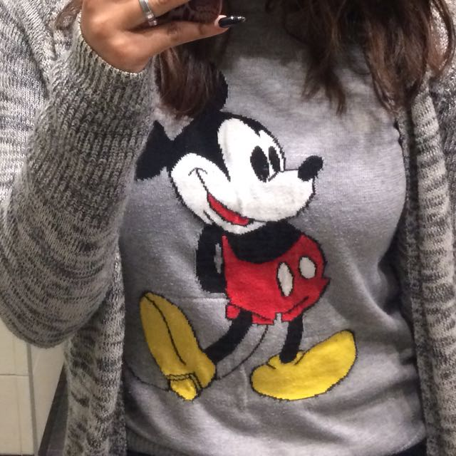 F21 Mickey Mouse Sweater