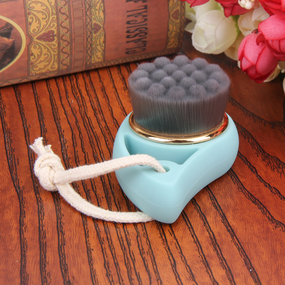 Facial cleansing brush charcoal and bamboo