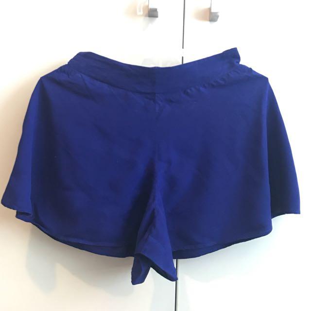 Forever21 Navy Blue Flare Shorts