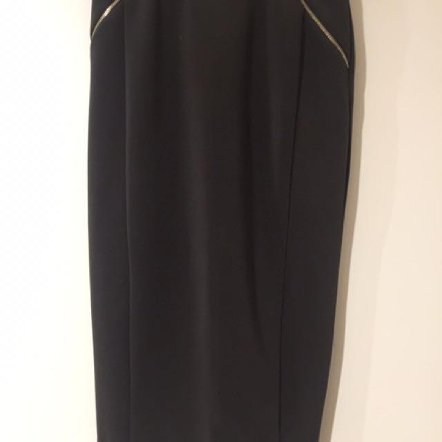 Forever New Khaki Midi Skirt