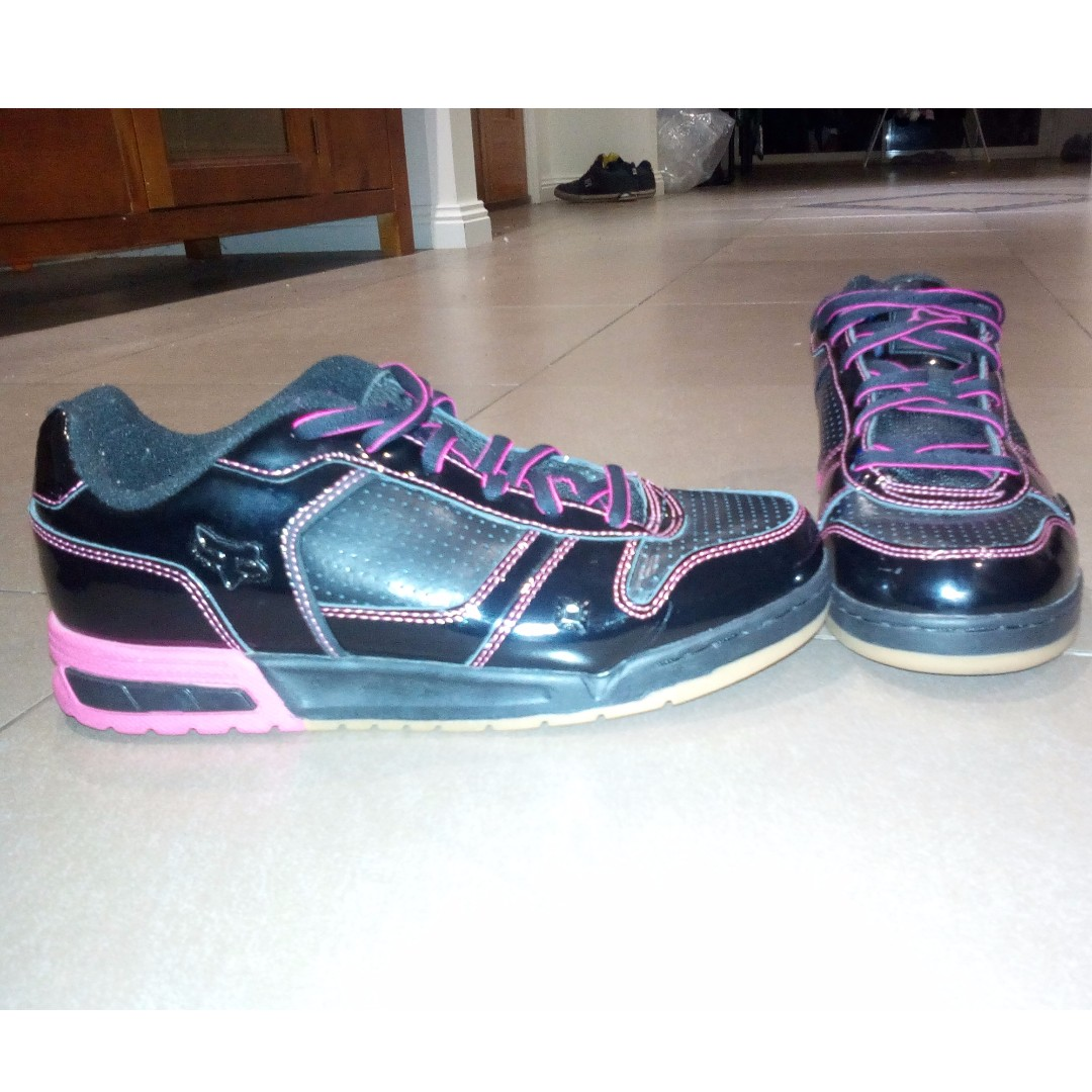 Fox Black and Pink Skate Shoes