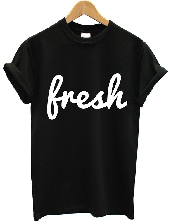Fresh Tumblr Unisex Design Shirt Tee Women Fashion Photo Baju