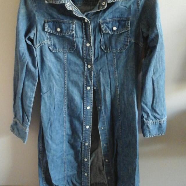 Gap Denim Buttondown  Dress