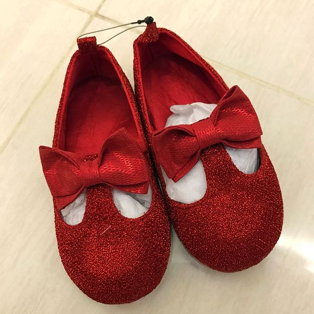 Girls Red Sparkle Shoes H M Inspired Babies Kids Girls