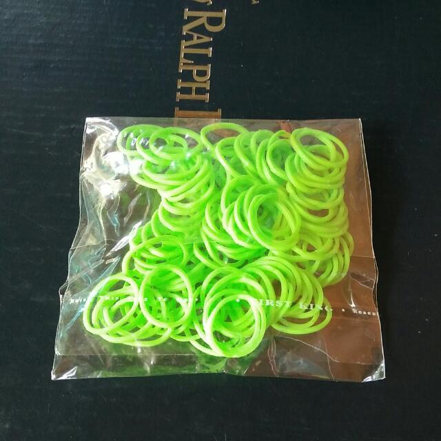 Glowing Green Loom Bands
