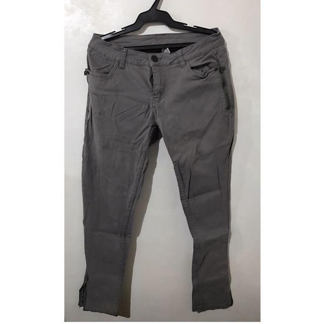 Gray Ladies Pants