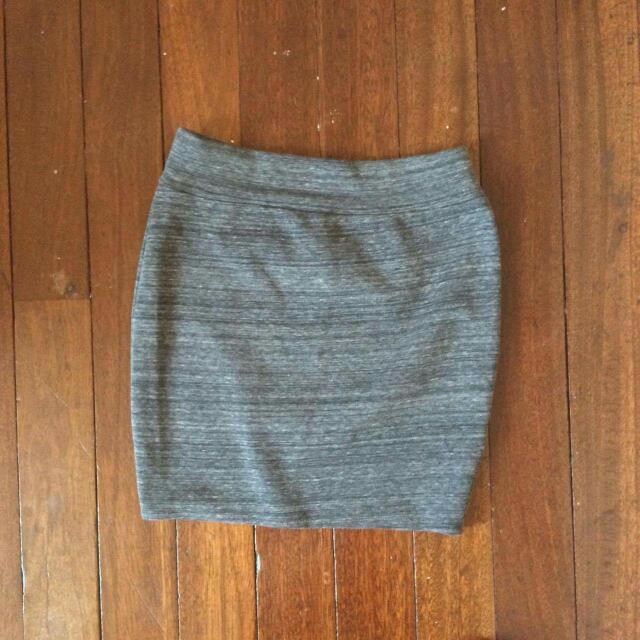 Gray Miniskirt
