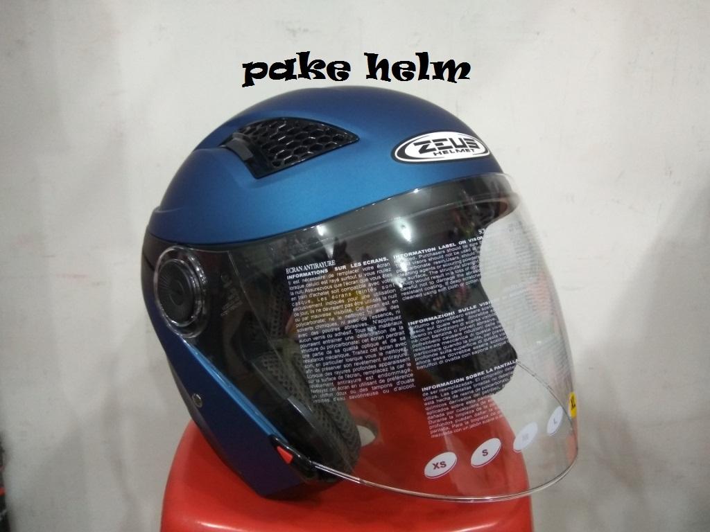 Zeus Helm Half Face Double Visor Zs 612c Polos Hitam Update Daftar 218 Retro Iron Head Grafik Putih Ss6 Helmet 612 Black 610 Zs610 Solid