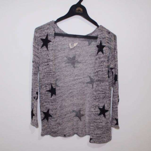 H&M Star Cardigan Knit