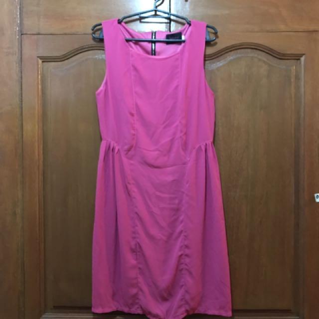 Hot Pink Sheath Dress