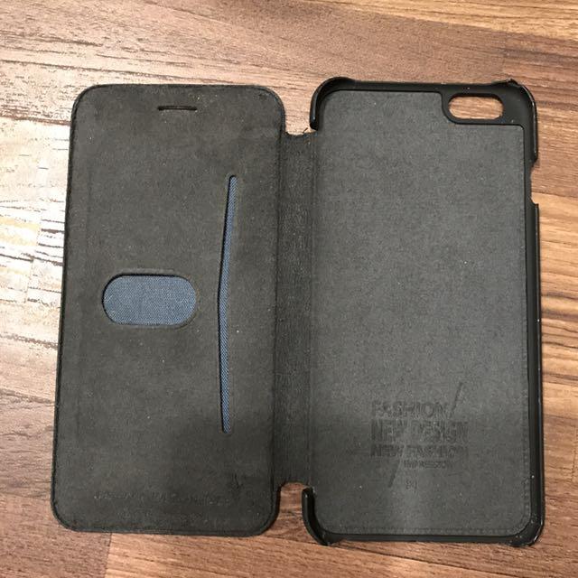 I6s黑色翻蓋手機殼