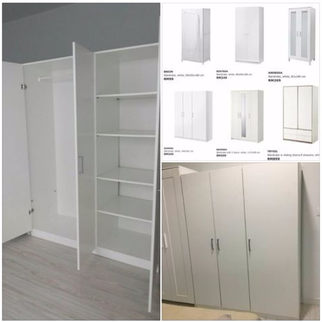 ikea dombas wardrobe white rumah perabot perabot di. Black Bedroom Furniture Sets. Home Design Ideas