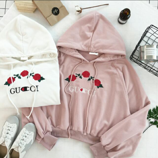 08f73cc5fe4 inspired - gucci x champion rose hoodie