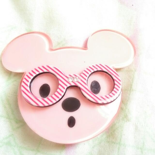 Jepit Rambut Teddy Pink