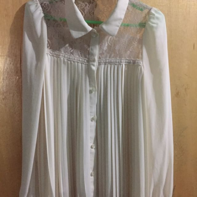 Korean Laced White Long Sleeves