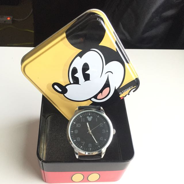 Leather Watch Mickey Mouse