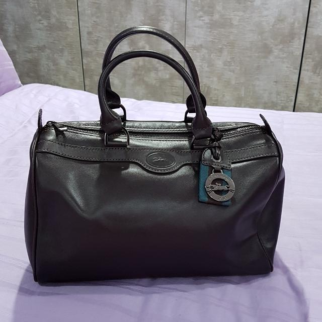 Longchamp Au Sultan Leather Bowler Bag Women S Fashion