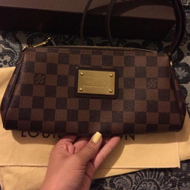 Louis Vuitton Eva Clutch Damier Sling Bag Authentic Women S Fashion