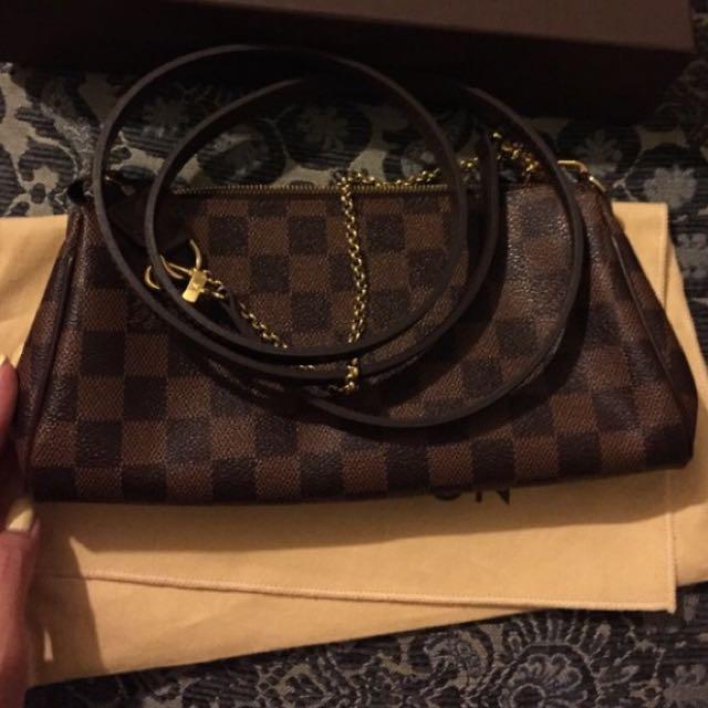 e464523a1a2b Louis Vuitton Eva Clutch Damier Sling Bag Authentic