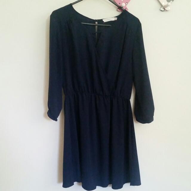 Lush Navy Blue Dress