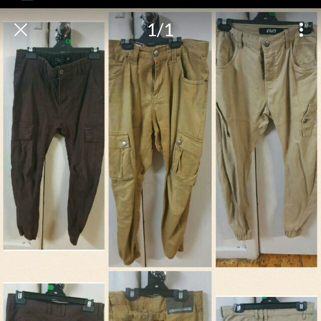Mens as new cuffed chino pants sz 30_32