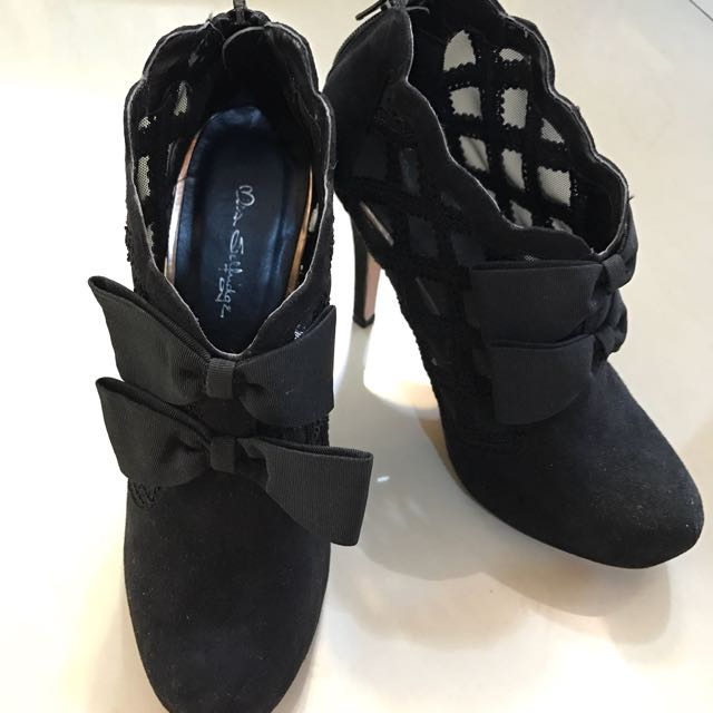 MISS SELFRIDGE Black Boots Heels (ori)