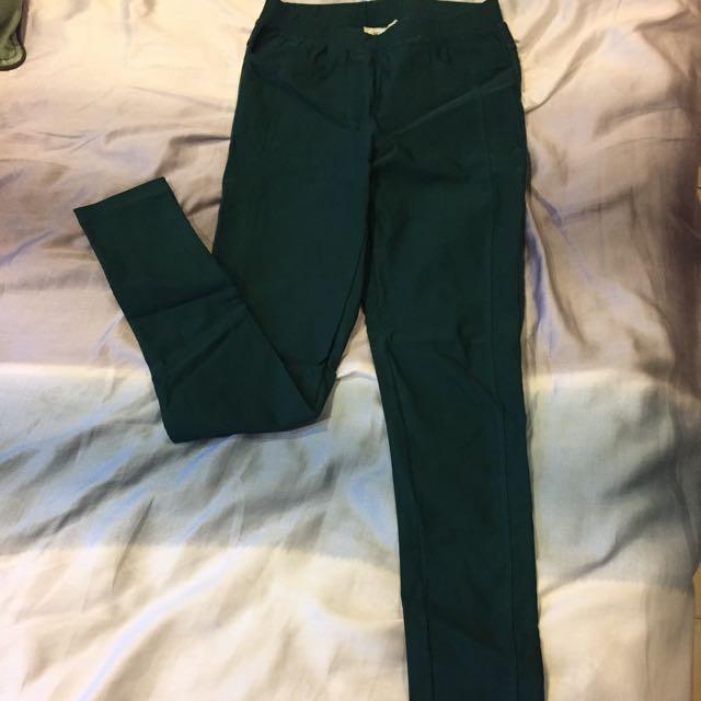 MO-BO墨綠色長褲
