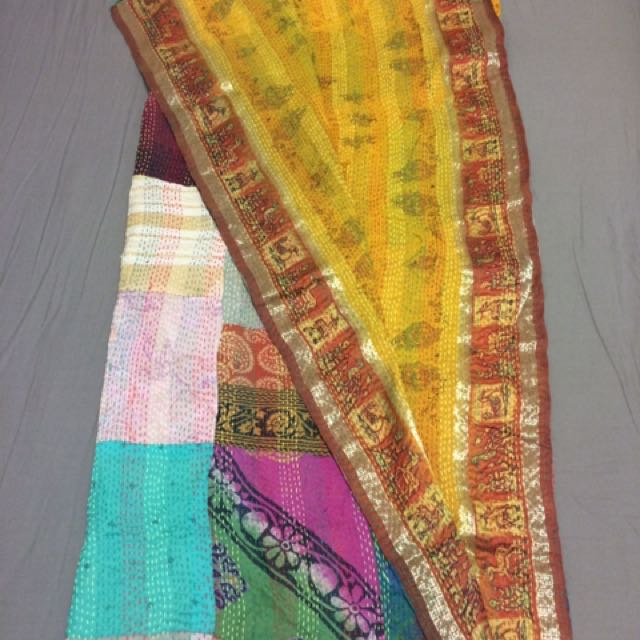 UNIQUE Multi Coloured Reversible Silk Scarf