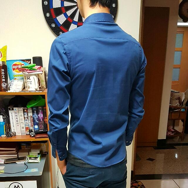 NET 深藍襯衫