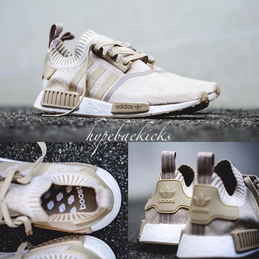 NEW] Adidas NMD R1 PK Linen Beige Glitch, Men's Fashion