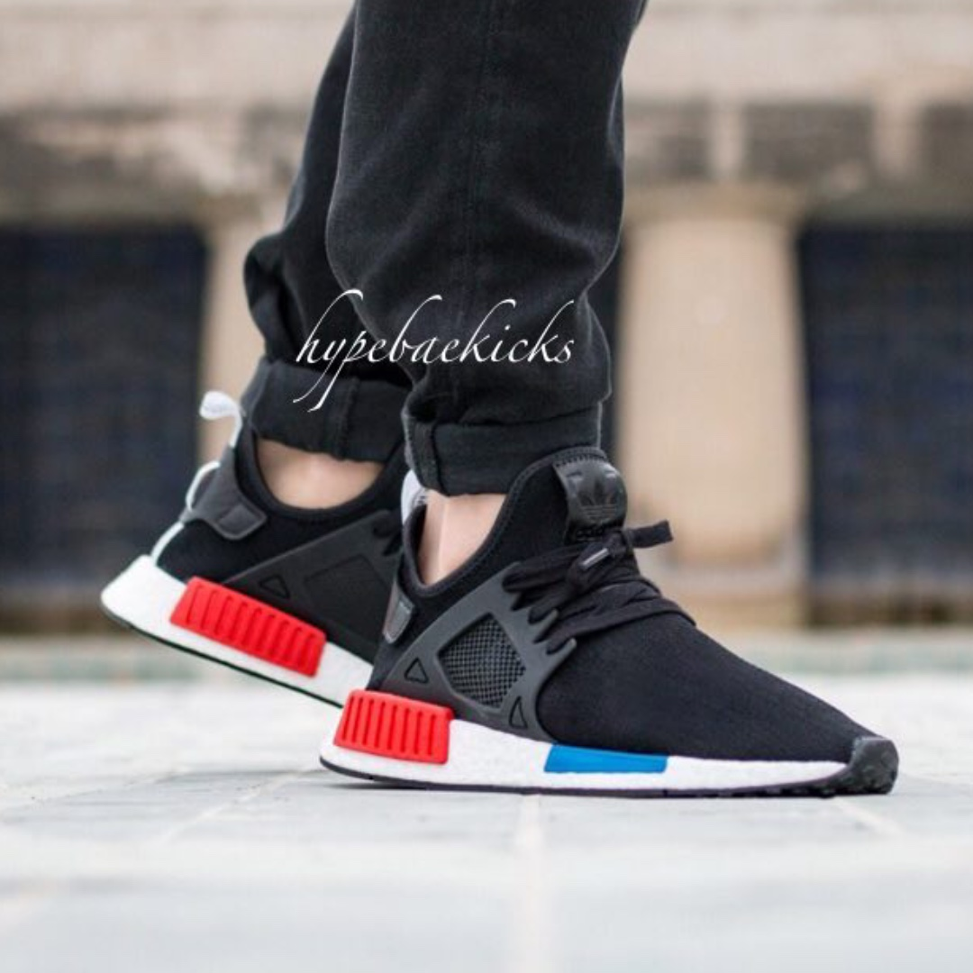 Adidas NMD XR1 PK OG Core Black Blue Red Size 13.5. BY1909 Ultra Boost Yeezy | eBay