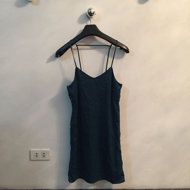 NEW H&M teal slip on dress
