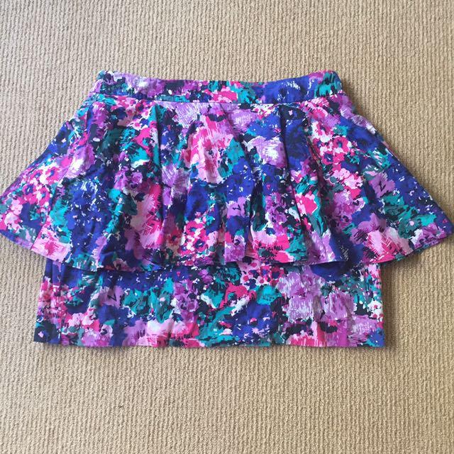 Oasis Floral Peplum Skirt