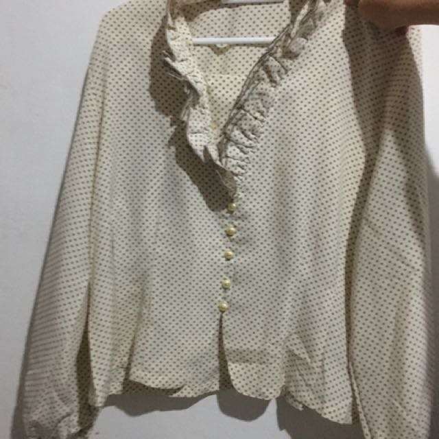 Off White Formal Blouse